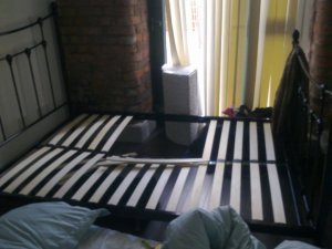It's not just a bed, it's a Marks and Spencer's bed (actual image of my DIY skills)