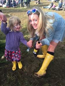 This is a different toddler that I accosted because we had the same wellies on. No I don't know why I did that either!